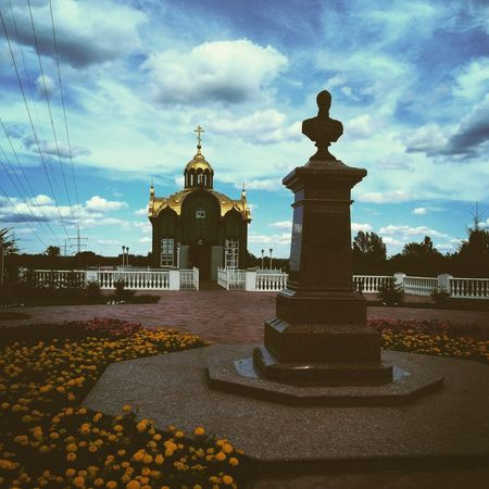 Cloud - Sky Sky Architecture Outdoors No People Statue Building Exterior RussianFederation Streetphotography Soviet Union Church Architecture Churches Religious  Religious Architecture Orthodox Church