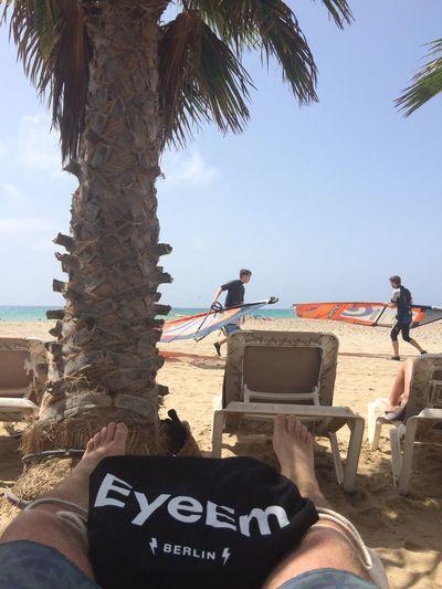 Barefoot Windsurfing in Fuerteventura EyeEmBestPics Being A Beach Bum Getting A Tan Enjoying The Sun Palm Trees