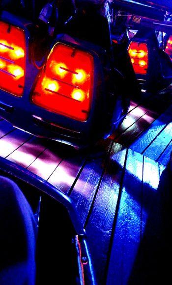 Illuminated Night Kiff Amusement Park Attraction Park Colors