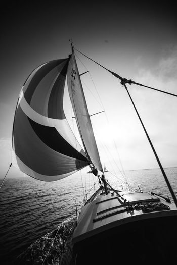 Sailing Sea Water Nautical Vessel Boat Nature Outdoors Transportation Sailing No People Sky Mast Sailboat Beauty In Nature Day Done That.
