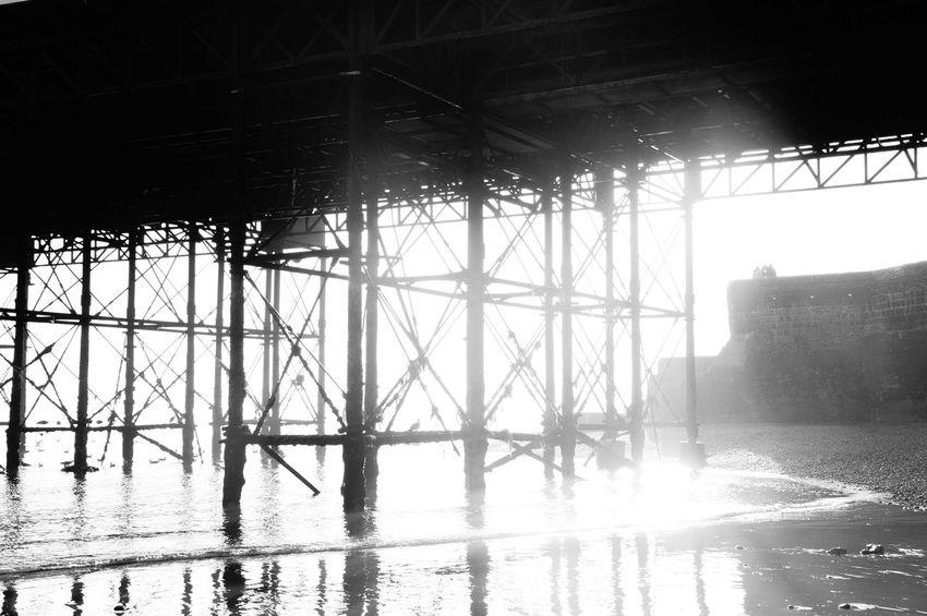 Darkness And Light Contrast Light And Shadow Coastline Brighton Beach Brighton Brighton Pier UK Pier Brighton Pier Beach Beauty In Nature Scenics Tranquility Wave Sunset Beauty In Nature Outdoors Sea No People Blackandwhite Pebble Sunny Landscape Ocean Sea Barrier