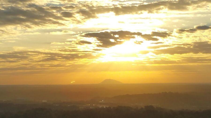 Sun rise stone mountain