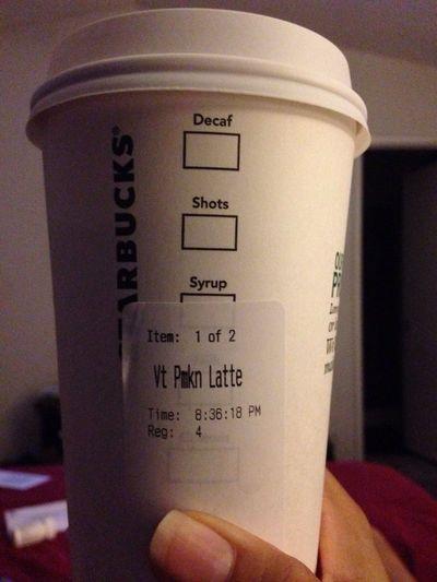 Man I missed it... Psl Starbucks