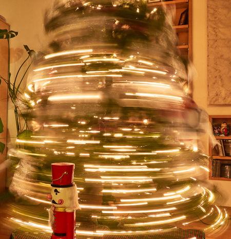Christmas Christmas Lights Nutcracker Blur Motion Christmas Christmas Decoration Christmas Tree Christmastime Close-up Illuminated Indoors  Indoors  Night No People