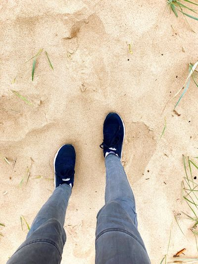 Shoe Standing Human Leg Low Section Personal Perspective Human Body Part Day One Person Outdoors Sand Adult People Adults Only Beach Beauty In Nature Minimalism Sandy Sandy Beach Sommergefühle
