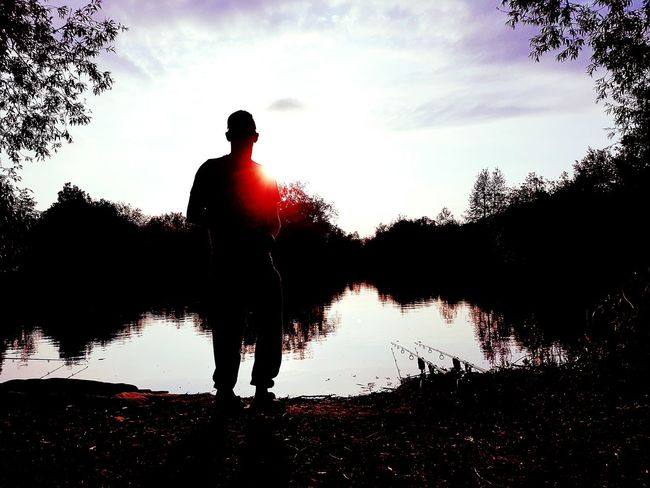 🎣 Fishing Silhouette Outdoors One Man Only Relaxing Chilled Therapeutic Tranquility HouseHusbandMaterial Mr Love ♥ Fishing Life Beautiful