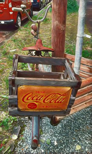 Old-fashioned Old Cola Truck