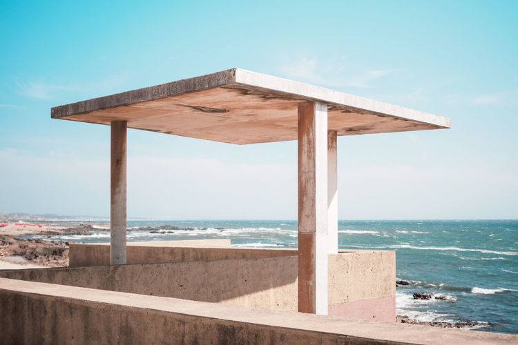 Gazebo Against Sea During Sunny Day