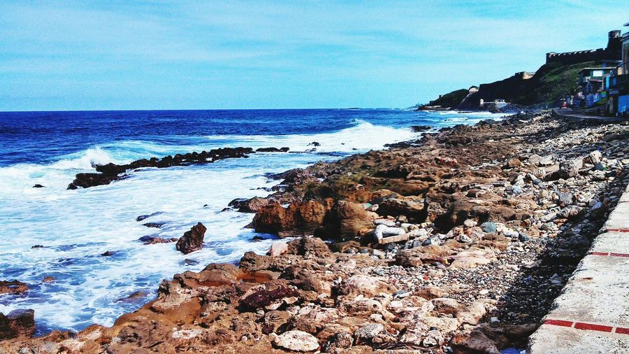 La Perla Viejo Sj Puerto Rico Ocean View Blue Is Blue Old San Juan Blue Sky Taking Photos Waves