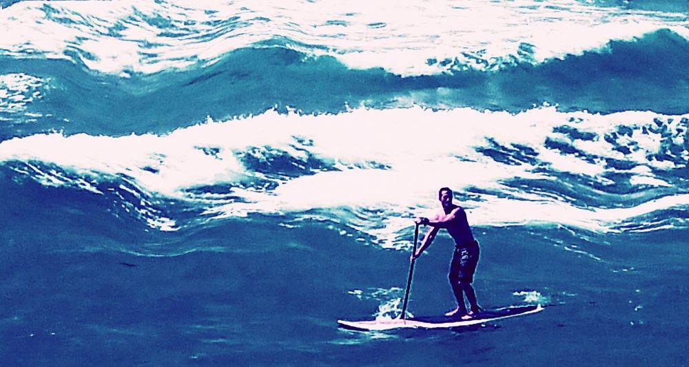 Relentless boader enjoying his solitude. Hanging Out Taking Photos Hello World Paddleboarding Paddling Surfing Surf's Up Seascape Paddle Boarding Water Sports Deerfield Beach Florida Florida Life Hidden Gems