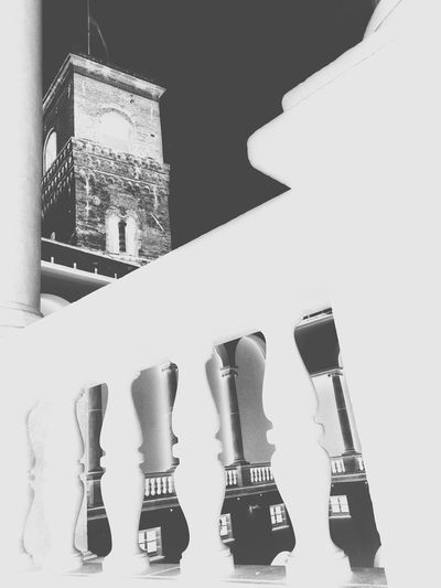 Black & White B&w Architecture Negative Palazzo Ducale,Genova Tower Medieval Architecture Marble No People Close-up
