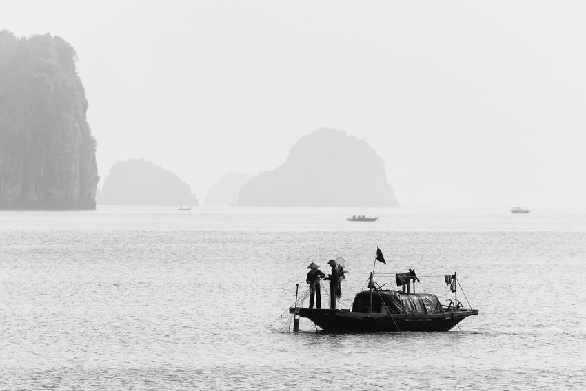 Fishing Time Art Is Everywhere ASIA Beauty In Nature Black & White Black And White Bw EyeEm Best Shots - Black + White EyeEm Diversity Fine Art Photography Fishing Boat Fishing Net Ha Long Bay Halong Bay  Halong Bay Vietnam Lifestyles Mountain Nature Real People Scenics Sea The Secret Spaces Travel Destination Travel Photography Water Break The Mold TCPM The Great Outdoors - 2017 EyeEm Awards The Photojournalist - 2017 EyeEm Awards Live For The Story Investing In Quality Of Life Connected By Travel Rethink Things Black And White Friday Step It Up An Eye For Travel Business Stories