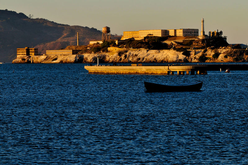 Alcatraz Island Boat Nautical Vessel San Francisco Tranquil Scene Travel Destinations Water Waterfront