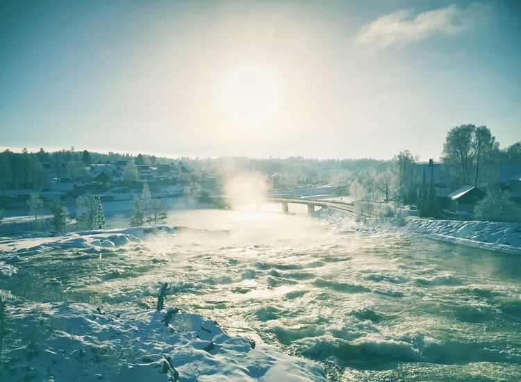 Cold Temperature Cold Days Cold Winter ❄⛄ Winter Sunlight River Riverscape Norway Frozen Frosty Mornings Frost
