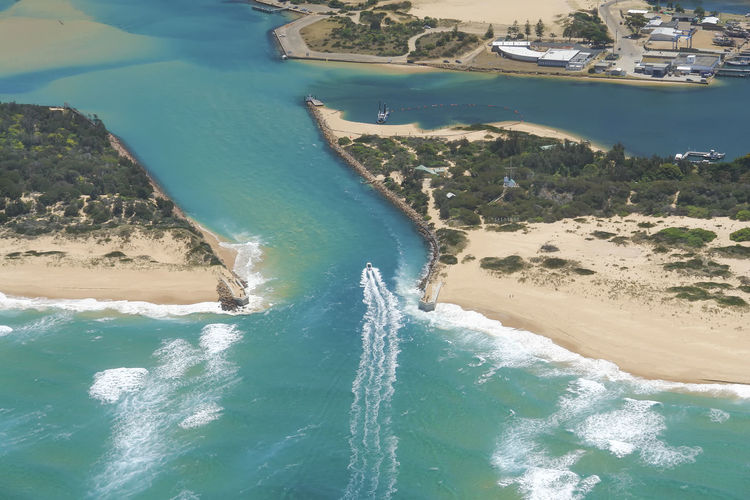 Aerial view of Lakes Entrance, Australia Australia Australian Landscape Coastline Drone  Jet Boat Lakes Entrance Aerial View Airplane Beach Beauty In Nature Boat Canals And Waterways High Angle View Lakes  Land Mode Of Transportation Pacific Ocean River Sandbank Seascape Transportation Travel Destinations Turquoise Colored Water Waves, Ocean, Nature