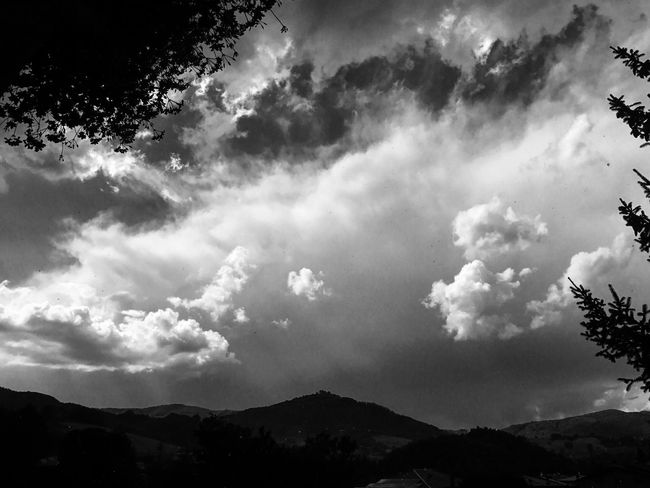 Sky Nature Beauty In Nature Mountain Cloud - Sky No People Scenics Low Angle View Outdoors Tranquility Day Tree Tranquil Scene Freshness EyeEmNewHere Eye4photography  Popular Photos Bw_collection Bw_lover Take A Photo EyeEm Best Shots EyeEm Gallery EyeEmBestPics