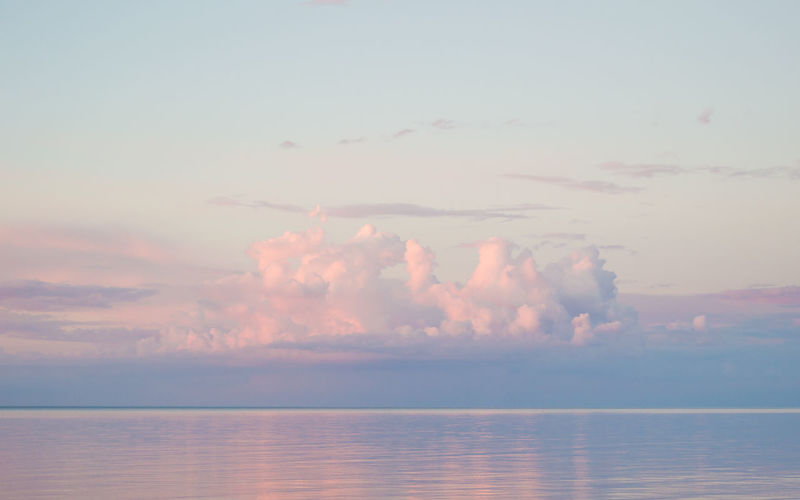 Baltic Sea Beach Beauty In Nature Blue Calm Cloud Idyllic Lativia Majestic Nature No People Non-urban Scene Orange Outdoors Pink Remote Scenics Sea Seascape Sky Sunset Tranquil Scene Tranquility Water Weather