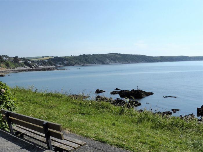 Time to Reflect Bench Holiday Views Beauty In Nature Clear Sky Cor Day Grass Idyllic Landscape Looe Mountain Nature No People Outdoors Peaceful Scenics Sea Sky Summer Tourism Tranquil Scene Tranquility Uk Water