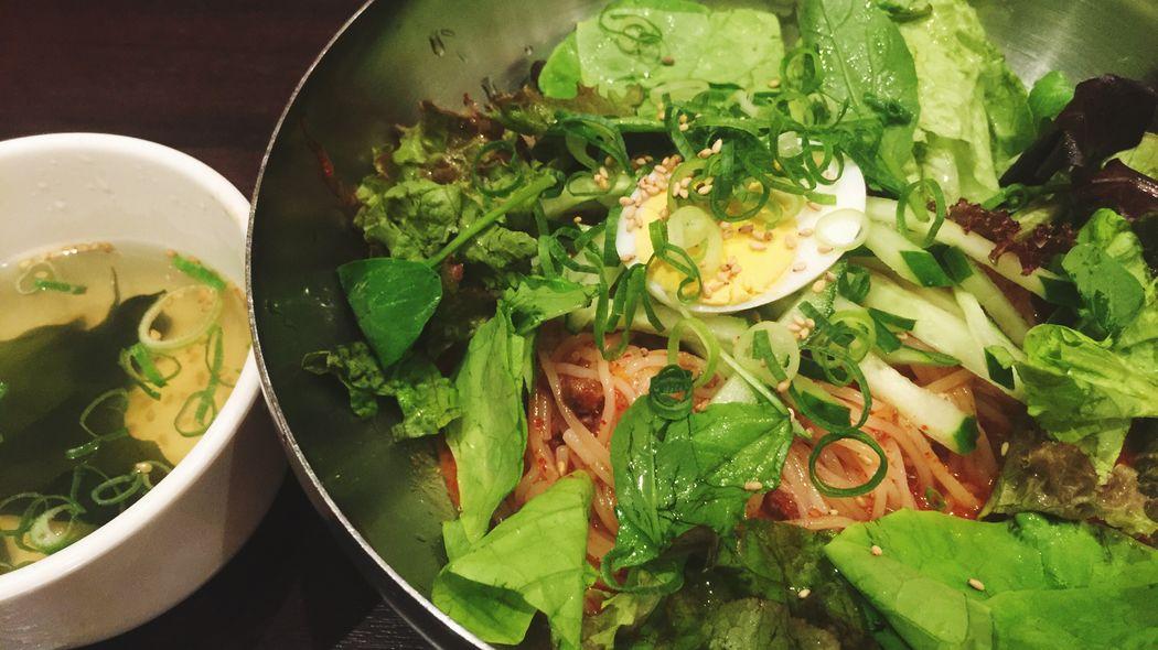 夏には辛いものも食べなきゃ!今日はチャプチェ! IPhoneography 韓国料理 ビビン麺 Good Times 幸せ