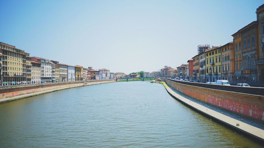 Architecture Built Structure Building Exterior Canal Transportation Water Clear Sky Day Outdoors Sky City No People Italy Pisa Pisa Italy Pisa, Italy