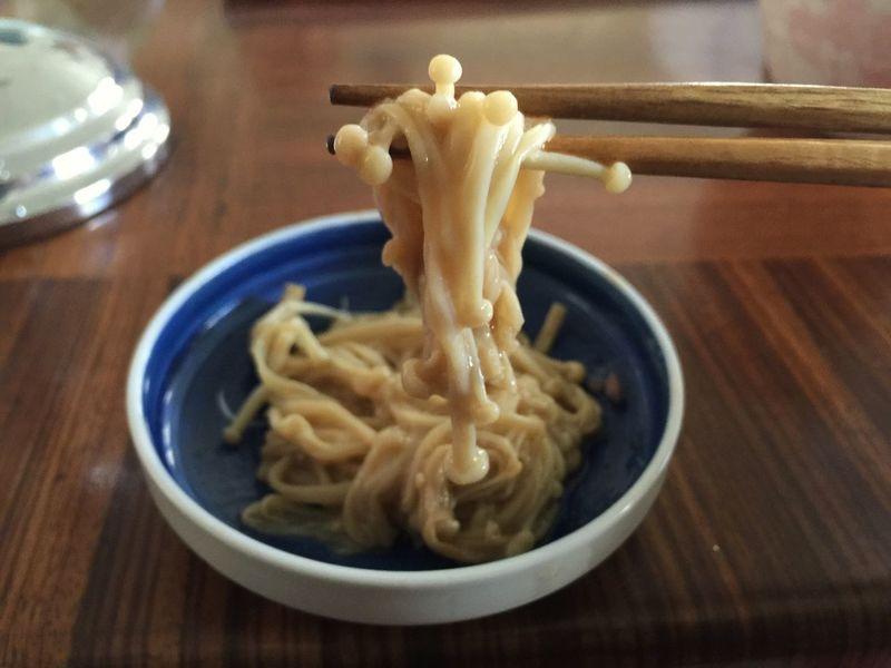 Enoki mushrooms Japanese  Yummy Tasty Mushrooms Delicious Food Enoki Mushrooms Favorite Favorite Things  Food Stories