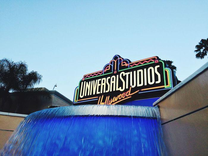 🌐UNIVERSAL🌐 Blue Neon Hollywood Universal Studios