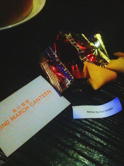 Having a Fortune Cookie in a Fortunate  life. Philosophy