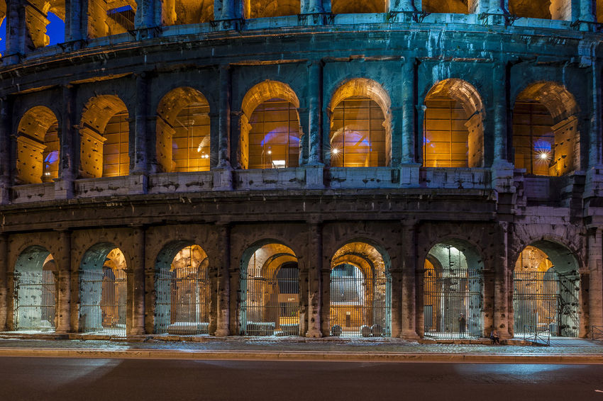 Cities At Night Cities At Night Eyeem Awards 2016 The Architect - 2016 EyeEm Awards Rome Italy The Colosseum, Rome Color Palette Beautifully Organized The City Light