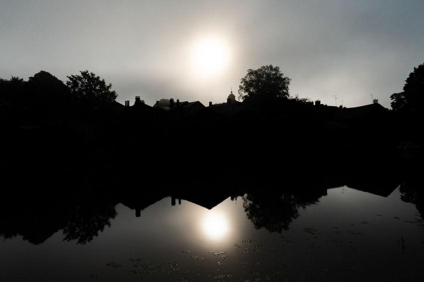 Misty Morning Dark Misty Porvoo, Finland Fog Foggy Misty Morning Misty Sunrise Nature Outdoors Porvoo Reflection Reflection Lake River Silhouette Sky Sun Sunrise Tree Water