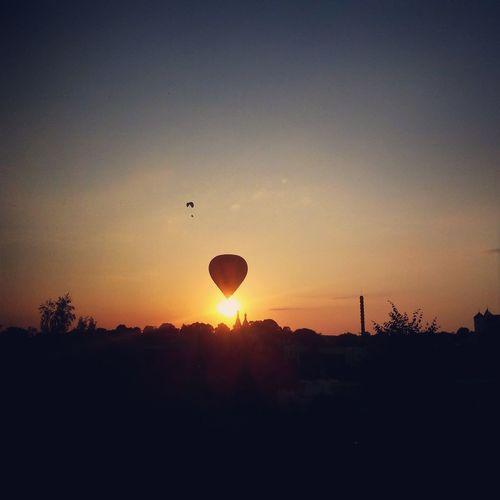 Trakai Stogas Air Balloon Sunset_collection Relaxing Summer Views Summer ☀ Sky Relaxing Nature Traku Panorama Check This Out Trakai Sunset No Filter, No Edit, Just Photography