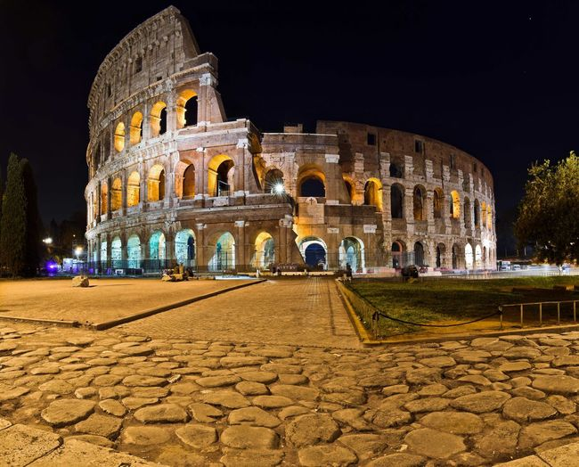 History Architecture Travel Destinations Tourism City Built Structure Night Travel The Past Amphitheater Illuminated Old Ruin Building Exterior Sky Ancient Outdoors Large Group Of People People Cultures Nikond3300 EyeEm Best Shots Landscape Roma Colosseum Light And Shadow