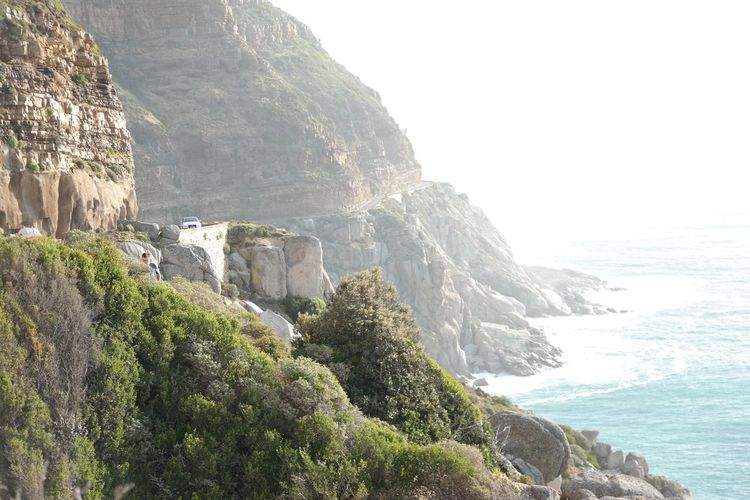 Cliff Rock - Object Sea Nature Landscape Rock Formation Scenics Outdoors Beauty In Nature Vacations Travel Destinations Coastline Ravine Rocky Coastline Rock Face Mountain Sky Beach Day Canyon
