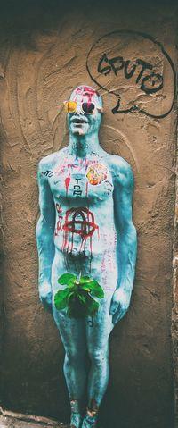 Sputo. 3D 3D Art Art ArtWork Blue Blueman Colors Comic Eye4photography  EyeEm Best Shots Eyeemphotography Firenze Florence Graffiti Italy Leaf Message Movement Photography Sculpture Street Streetart Streetphotography Sunglasses Urbansolid