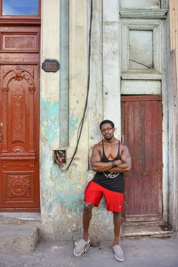 Outdoors Standing Street One Person Front View Portrait One Man Only Building Exterior Confidence  City Full Length Built Structure Day Lifestyles Architecture Cuban Style Colors Of Life Traveling Photography Fotogeniksyl Streets Of Cuba Travel Destinations Real People Standing
