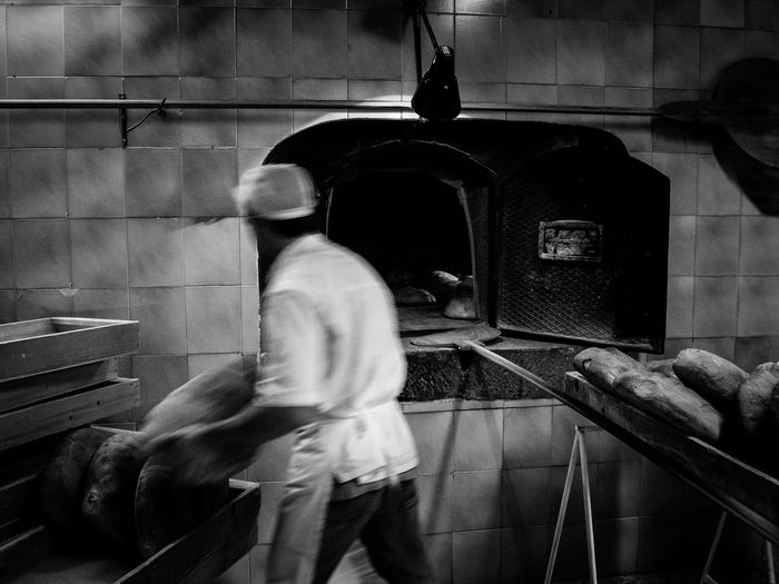 Let there be bread Bakery Before Day Black And White Photography Bread Flavor Food Loaf Of Bread Mood