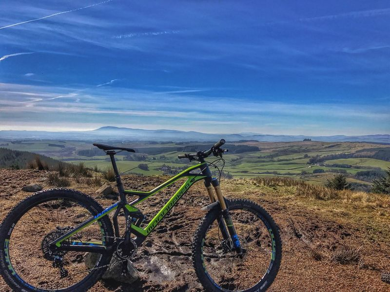 Scotland, Ae forest 🤘 Bicycle Transportation Mode Of Transport Sky Outdoors No People Nature Landscape Day Scenics Beauty In Nature MTB ADVENTURE MTB Biking Mtblife Scotland Riding Enduromtb Scenery Mountain Bike Tranquil Scene Tranquility