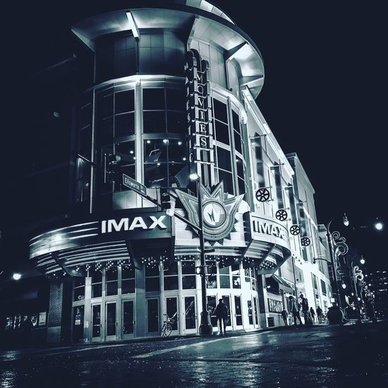Regal Cinema 20 | IMAX Movietheater Streetphotography Dmvphotographer Downtown Silver Spring Regal Cinemas EyeEmNewHere Night Architecture Built Structure Building Exterior Illuminated No People Outdoors