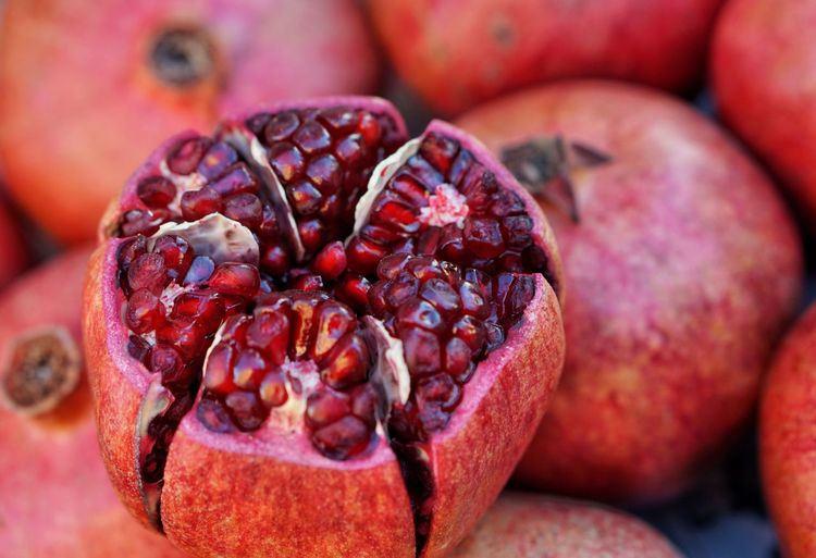 Healthy Eating Close-up Food Red Fruit Freshness Pomegranate No People Outdoors Day