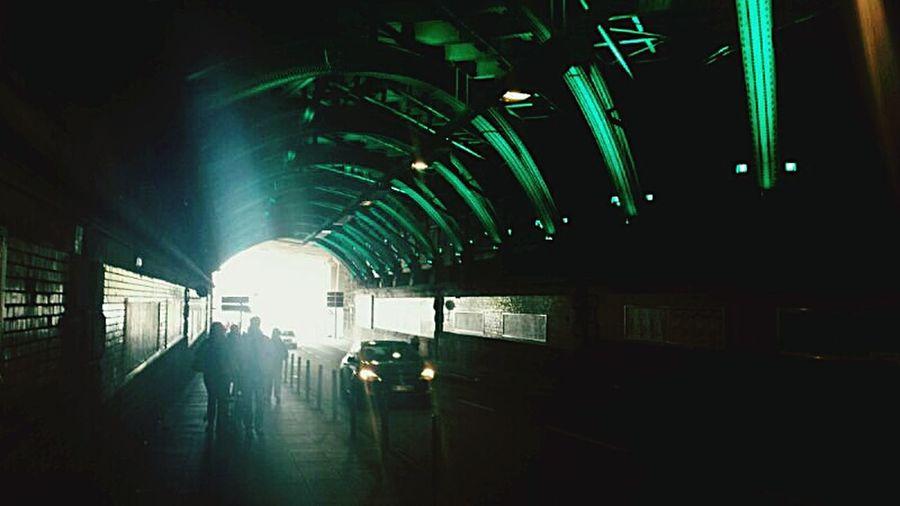 Tunnel Vision Lightattheendofthetunnel Green Color Cologne , Köln,  Underground Taking Photos First Eyeem Photo Mybestphoto2015 EyeEm Best Shots