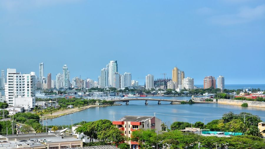 Good Morning Cartagena. Architecture City Building Exterior Built Structure Skyscraper Cityscape Growth Modern Urban Skyline Street City View  Coast City Colombia Cartagena Urban Landscape Bridge Urbanity Urban Good Weather Sunny Day Warm Weather