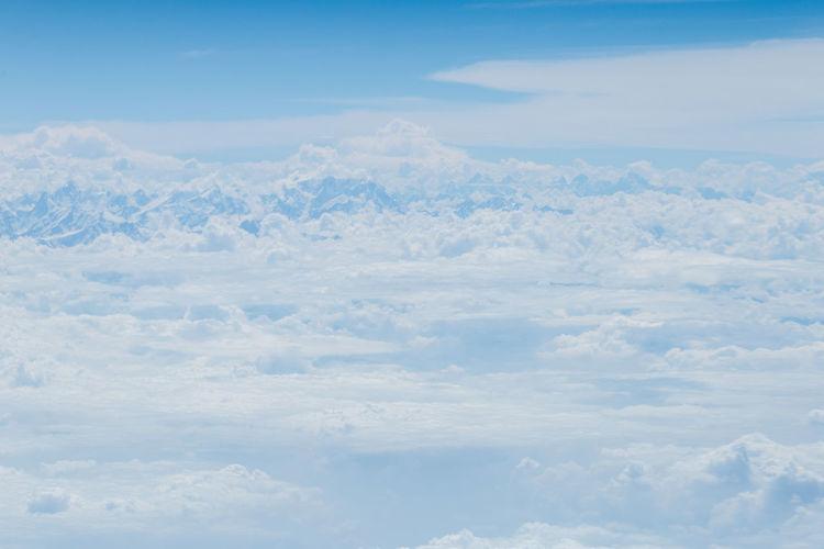 Blue Sky Sky Cloud - Sky Beauty In Nature Blue Backgrounds Cloudscape Mountain Top View