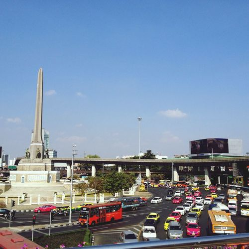 Miles Away Outdoors City Thailand Traffic Monument Victory Monument Bangkok Bangkok Thailand. Thai