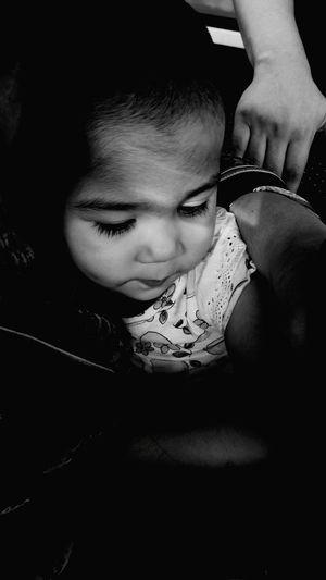 Baby Child Childhood Innocence Blackandwhite
