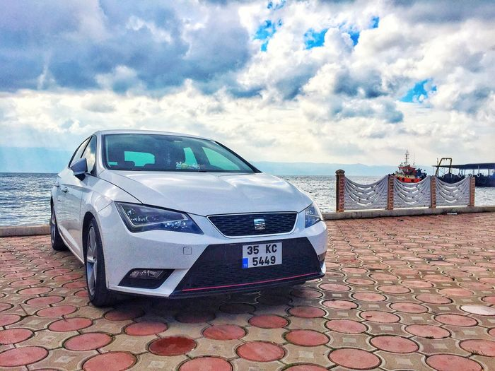 The Drive Cloud - Sky Sky Travel Destinations Day Transportation No People Outdoors Car Text Nature Seat Seat Leon 5F Turkey Istanbul Izmir