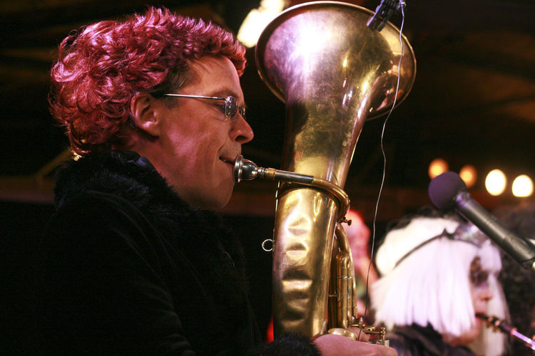 DZAIJL Music Brass Concert Concert Photography Playing Trombone Wig