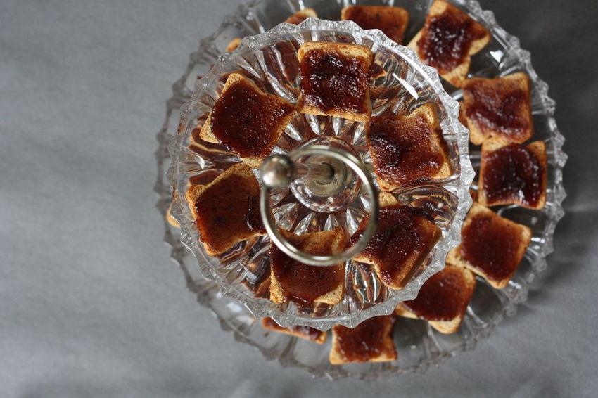 étagère Toasts Jam Marmelade Confiture Bissap Top Perspective No People Food