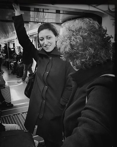 Snap A Stranger It is always the same old story | iPhone 6S Real People Two People Youmobile Wearegrryo Passenger