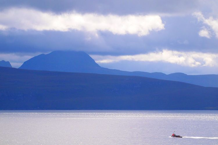 Heading Home Stormy Weather Loch Broom Clouds And Sky Cloudporn Landscape_photography Scottishrowan Fishing Boat Blue
