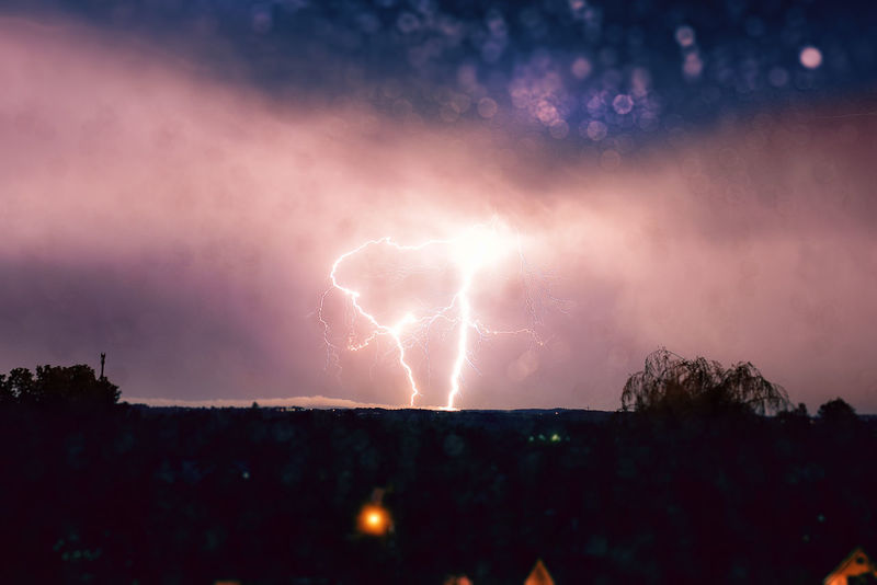 Beauty In Nature Danger Dramatic Sky Forked Lightning Illuminated Lightning Nature Night No People Outdoors Power In Nature Scenics Silhouette Sky Storm Storm Cloud Thunderstorm Tree Weather