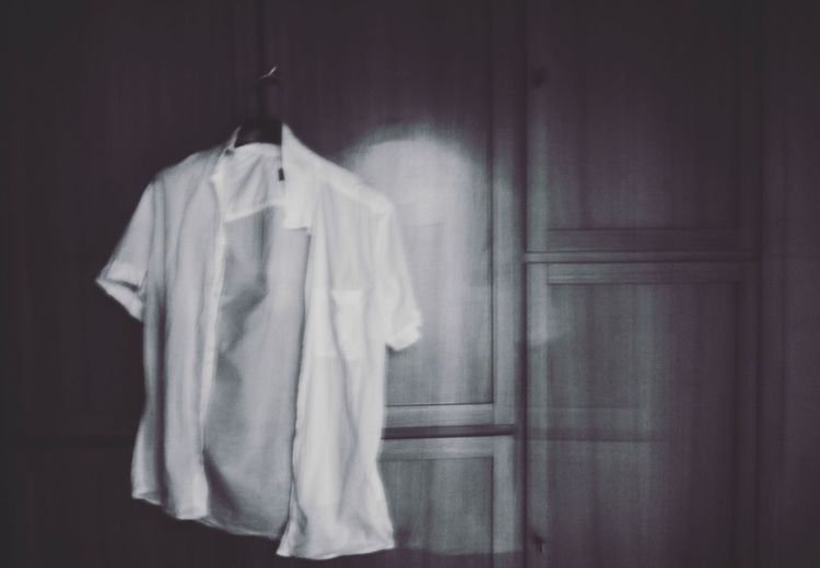 Curtain Indoors  Hanging Room No People Drapes  Cloth Day Shirt Loneliness Lonely Hanging Closet Long Goodbye Warm Clothing Silence Absence Absent Blackandwhite Black And White Long Goodbye